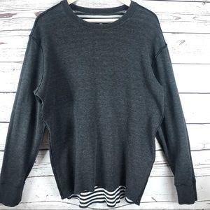 Lululemon Reversible Striped Sweatshirt Tunic